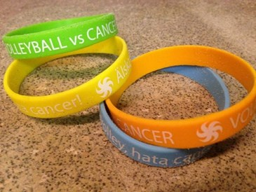 Armband Volleyboll mot cancer